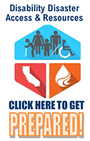 Image for Disability Disaster Access & Resources. Click here to get prepared!